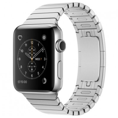 Apple Watch Series 2 42mm Stainless Steel Case with Stainless Steel Link Bracelet Band (MNPT2)