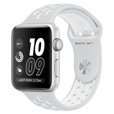 Apple Watch Nike+ 42mm Silver Aluminum Case with Pure Platinum/White Nike Sport Band (MQ192)