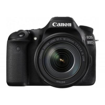 Зеркальный фотоаппарат Canon EOS 80D kit (18-135mm) IS USM