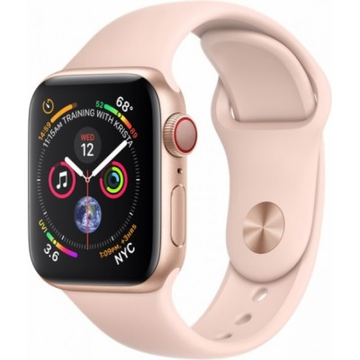Apple Watch Series 4 GPS + LTE 40mm Gold Alum. w. Pink Sand Sport b. Gold Alum. (MTUJ2, MTVG2)