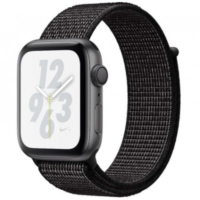 Apple Watch Nike+ Series 4 GPS 44mm Gray Alum. w. Black Nike Sport l. Gray Alum. (MU7J2)