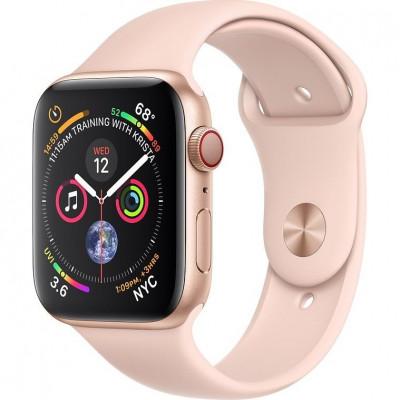 Apple Watch Series 4 GPS + LTE 44mm Gold Alum. w. Pink Sand Sport b. Gold Alum. (MTV02, MTVW2)