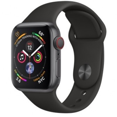 Apple Watch Series 4 GPS + LTE 40mm Gray Alum. w. Black Sport b. Gray Alum. (MTUG2, MTVD2)