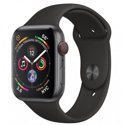 Apple Watch Series 4 GPS + LTE 44mm Gray Alum. w. Black Sport b. Gray Alum. (MTUW2, MTVU2)