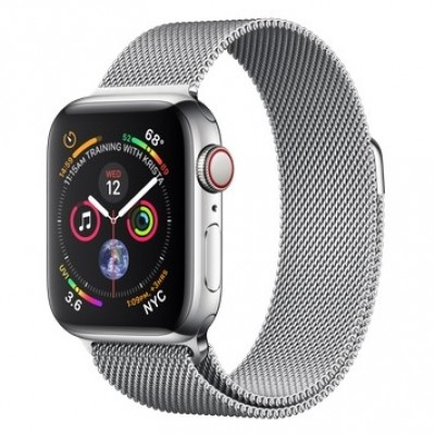 Apple Watch Series 4 GPS + LTE 40mm Steel w. Milanese l. Steel (MTUM2, MTVK2)