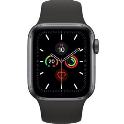 Apple Watch Series 5 GPS 44mm Space Gray Aluminum w. Black b.- Space Gray Aluminum (MWVF2)