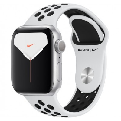 Apple Watch Nike Series 5 GPS 44mm Silver Aluminum w. Silver Aluminum (MX3V2)