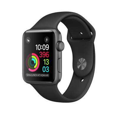 Apple Watch Series 1 42mm Space Gray Aluminum Case with Black Sport Band (MP032)